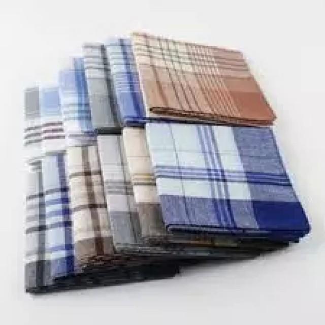 Handkerchief : 100% Cotton, Red, Black, White, Blue