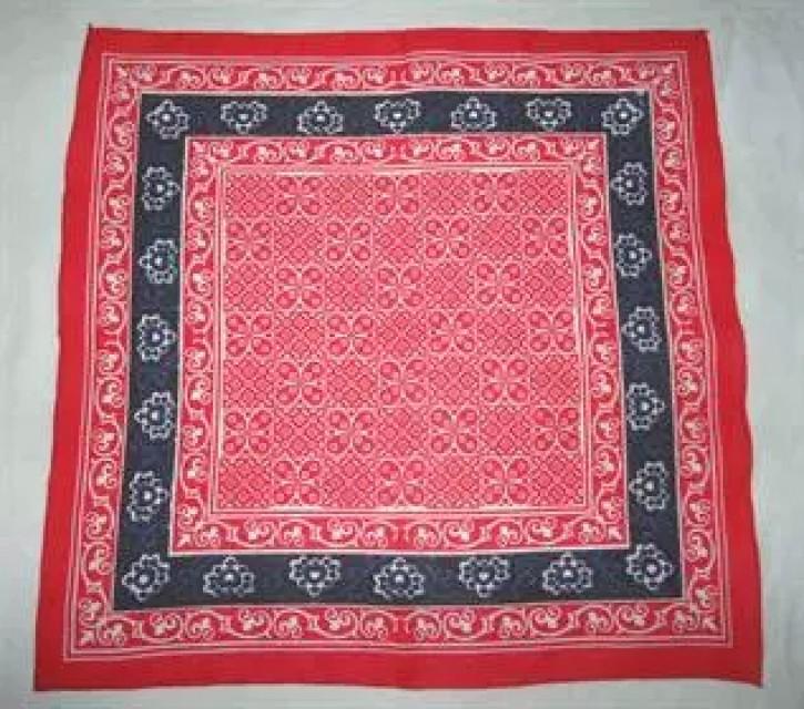 Handkerchief : 100% Cotton, Red