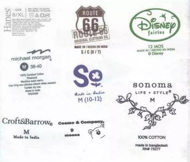 Labels for garments