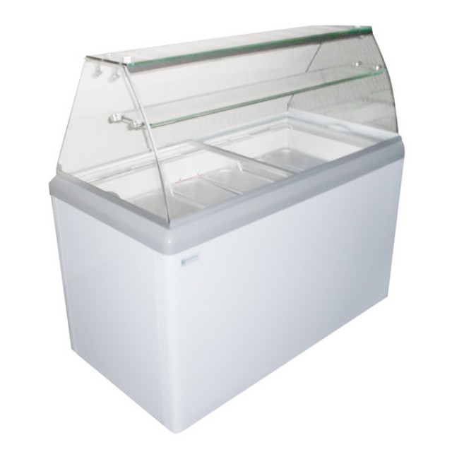 "Excellence HBG-7 43"" Seven Pan Gelato Dipping Cabinet"