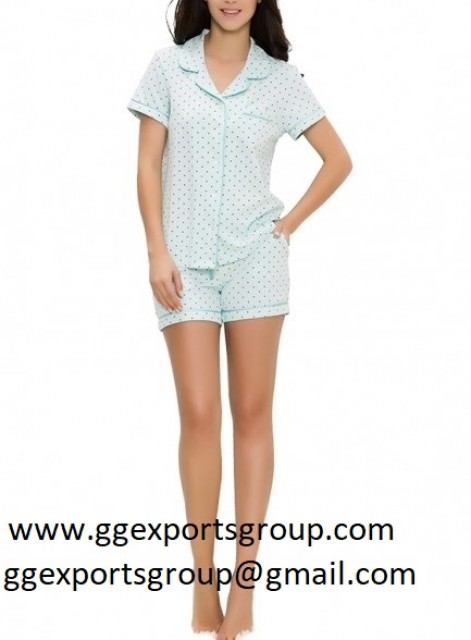 Shirt Type Dotted Pajamas Shorts