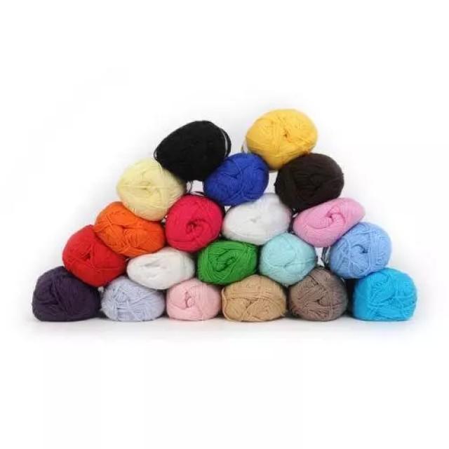 Acrylic blended yarn