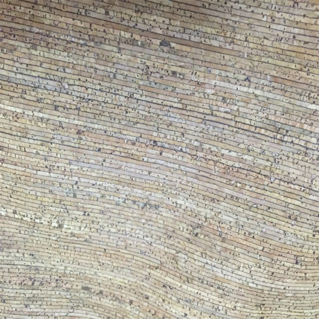 Cork fabric supplier in China natural stripe cork fabric for shoes and handbags