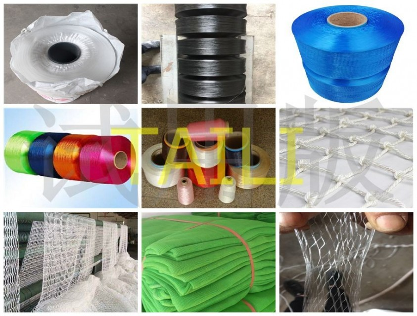 PP yarn from raw polypropylene