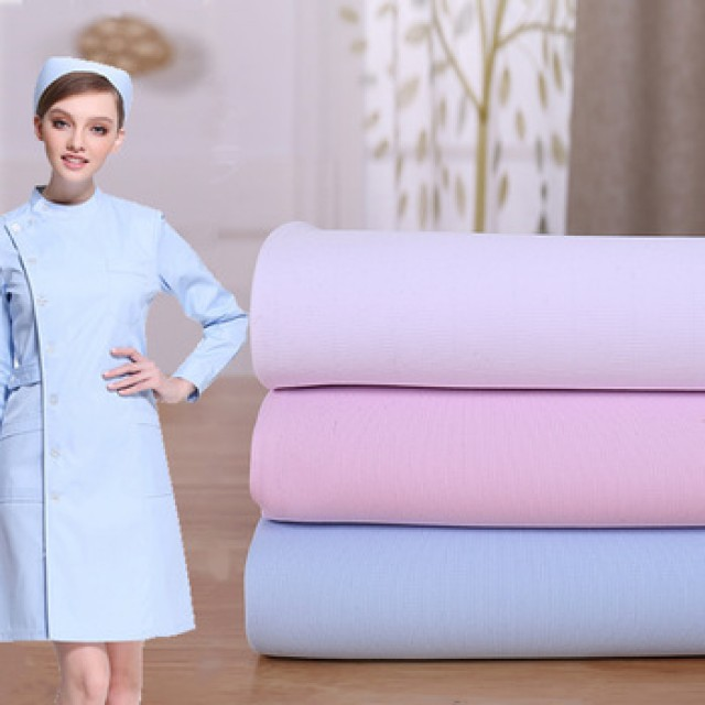 Hongxing textile 100% polyester fabric for medical uniform